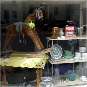 Latest window display in our Newburgh shop - Linda has gone for a Vintage look this time.
